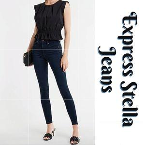 Express Stella Jeans Dark Blue Wash Skinny